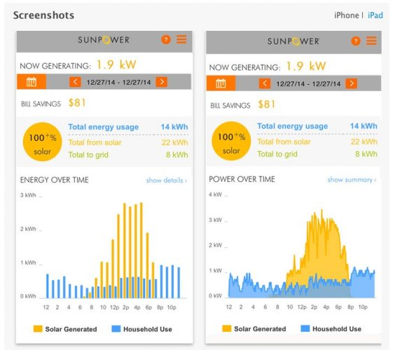 Sunpower Monitor app