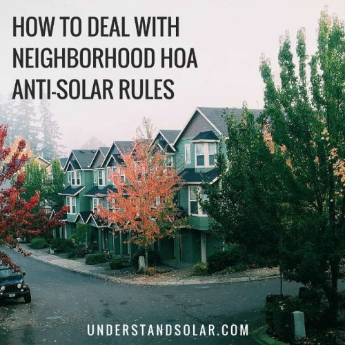 How to Deal With Neighborhood HOA Solar Rules