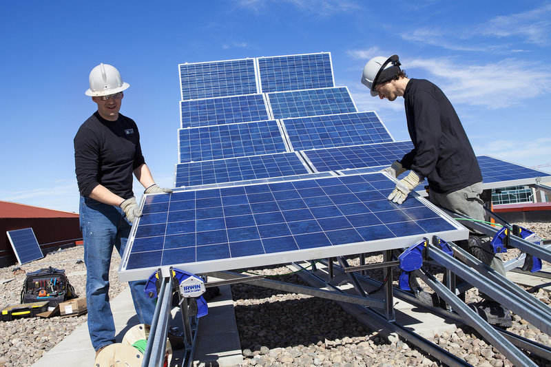 Installing pre-fabricated solar panels