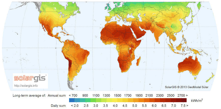solar GHI map
