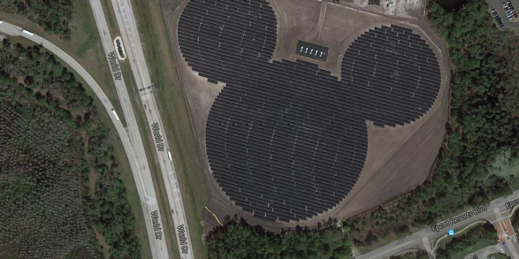 Disney Solar Plant Looks Like Mickey Mouse Understand Solar