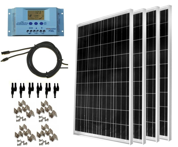 WindNation 400Watt Solar Panel Kits