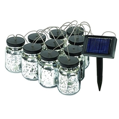 Malibu Solar Mason Jar String Lights