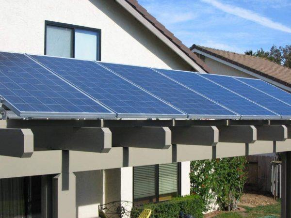 plugged solar panels