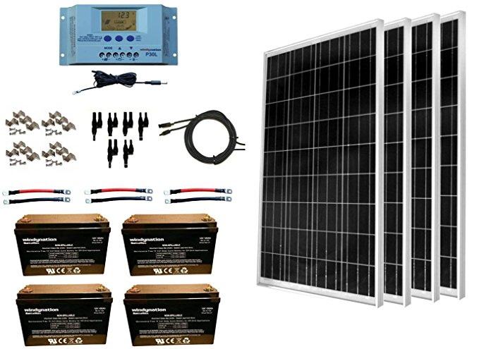 WindyNation 400 Watt Solar Panel Kit